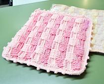 毛糸の座布団